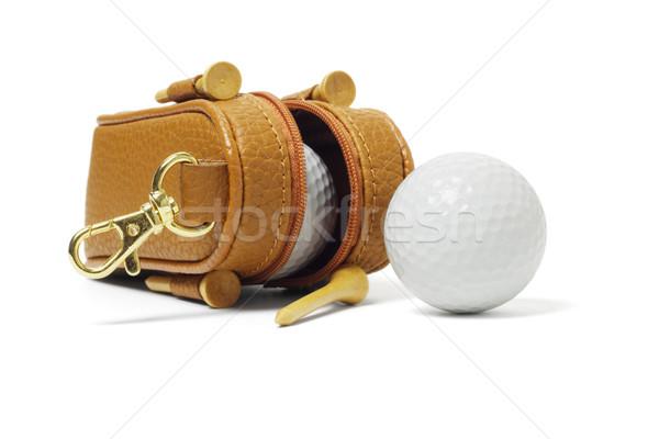 Mini bag of golf balls Stock photo © dezign56