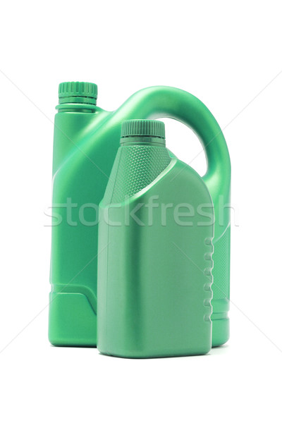 Green plastic containers for motor oil Stock photo © dezign56