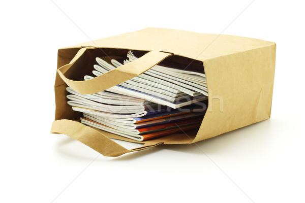 図書 紙袋 袋 コンテナ オブジェクト 空っぽ ストックフォト © dezign56