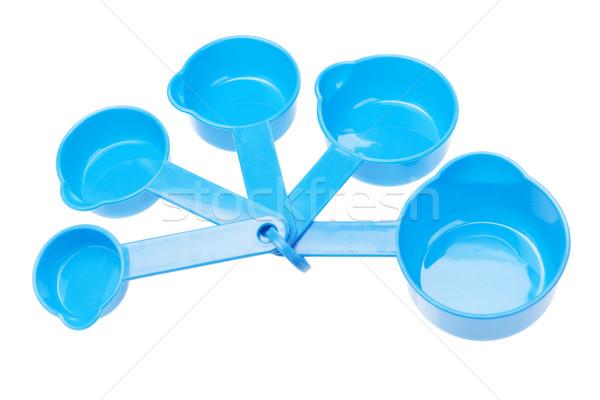 Stok fotoğraf: Plastik · kaşık · ayarlamak · beyaz · mutfak