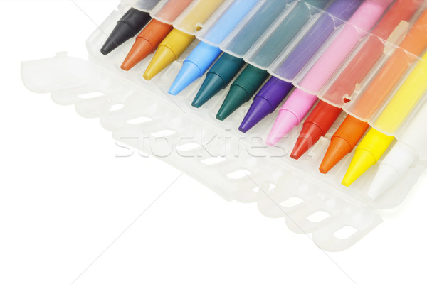 Multicolor crayons in plastic case  Stock photo © dezign56