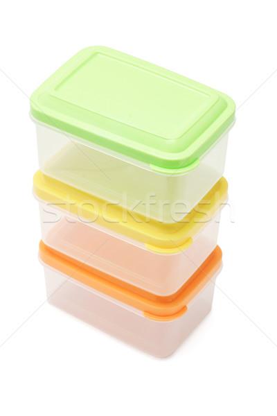 пластиковых три изолированный белый продовольствие кухне Сток-фото © dezign56