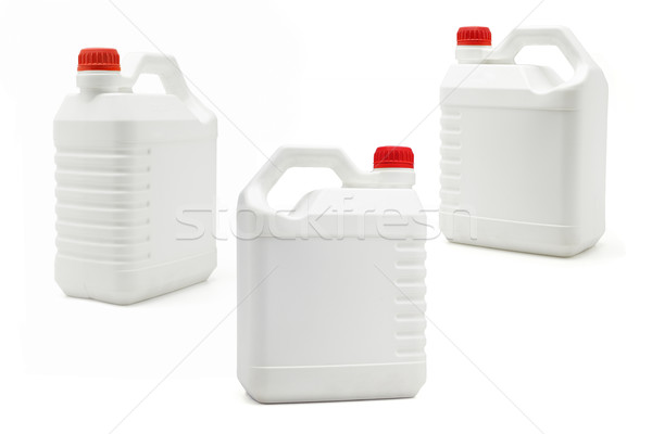 Witte plastic olie kleur recycleren motor Stockfoto © dezign56