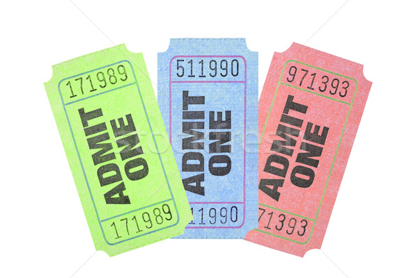 Colourful Admission Tickets  Stock photo © dezign56