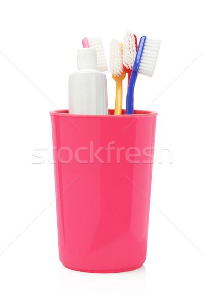 Creme dental branco cuidar plástico recipiente Foto stock © dezign56