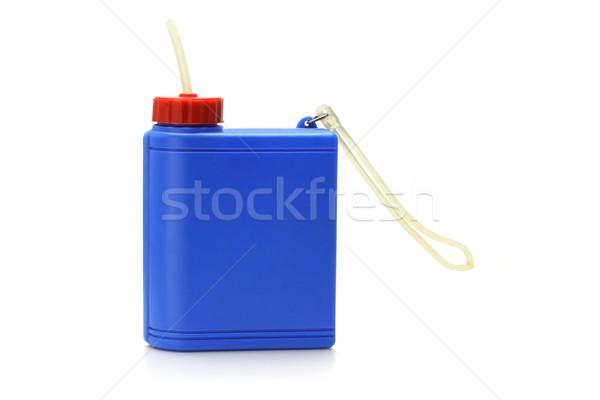 Műanyag víz konténer kék fehér sport Stock fotó © dezign56