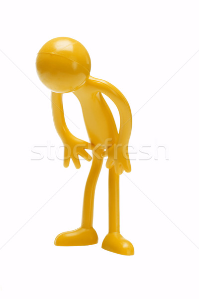 Bowing rubber toy figurine Stock photo © dezign56