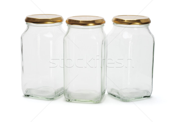 Three glass containers Stock photo © dezign56