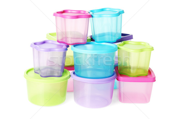 Assorted Colorful Plastic Containers  Stock photo © dezign56