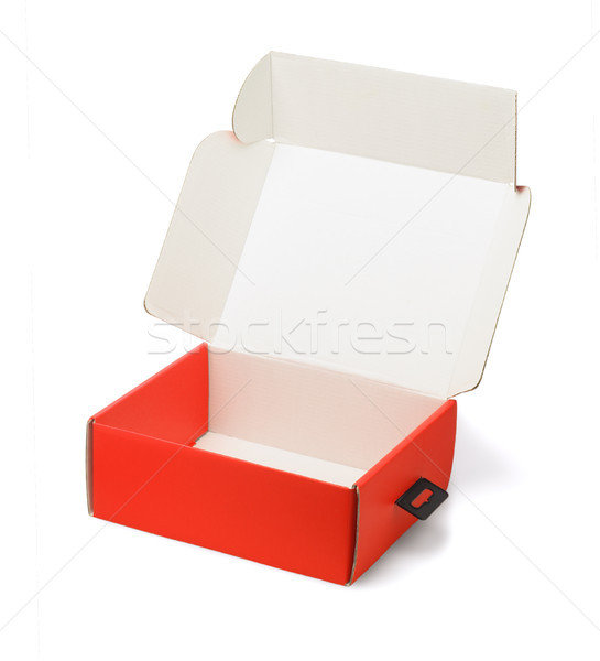 Red Product Packaging Box Stock photo © dezign56