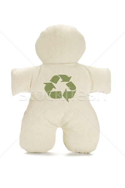 Dummy doll with recycle symbol Stock photo © dezign56