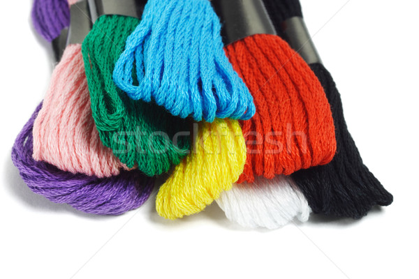 Colorful embroidery threads Stock photo © dezign56