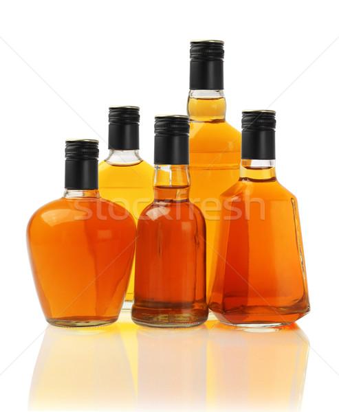 Italok gyűjtemény üveg üvegek fehér koktél Stock fotó © dezign56