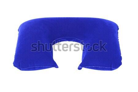 надувной шее подушкой синий белый путешествия Сток-фото © dezign56