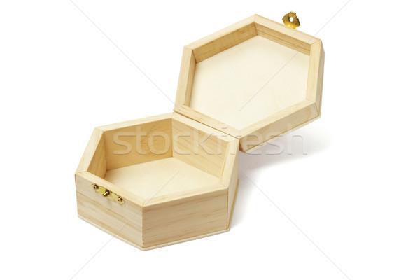 空っぽ 木製 ストレージ ボックス オープン ストックフォト © dezign56