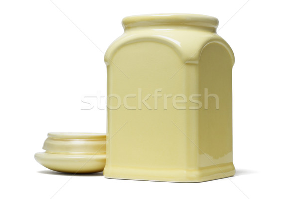 Open ceramic container with lid Stock photo © dezign56