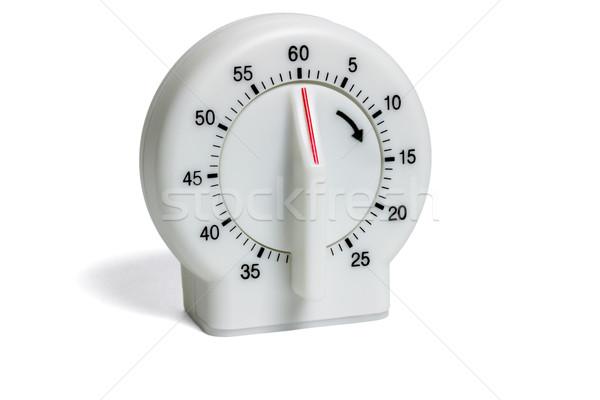 Cuisine timer plastique isolé blanche temps Photo stock © dezign56