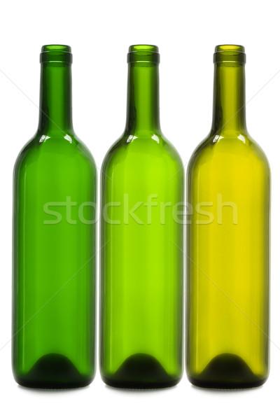 空っぽ ワイン ボトル 3  白 クリーン ストックフォト © dezign56