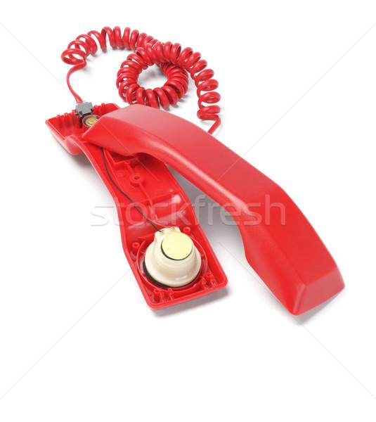 Red Telephone Handset Stock photo © dezign56