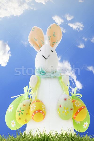 Easter bunny with decorative eggs  Stock photo © dezign56