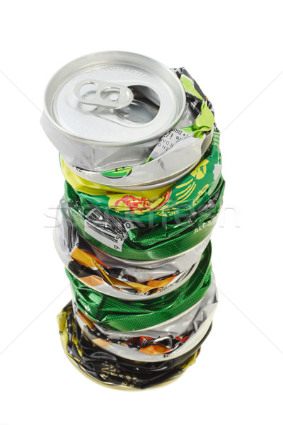 Stack of crushed cans Stock photo © dezign56