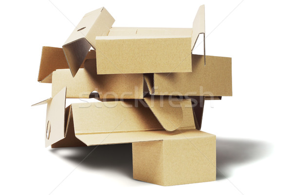 Discarded Packaging Cardboard For Recycling Stock photo © dezign56