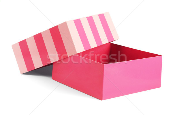 Nyitva ajándék doboz piros fehér textúra terv Stock fotó © dezign56