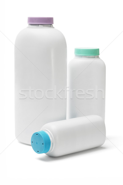 Plastic bottles of talcum powder Stock photo © dezign56