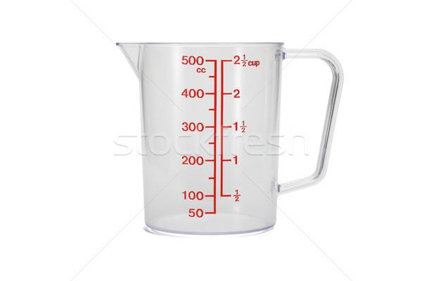 Plastic kitchen measuring cup Stock photo © dezign56