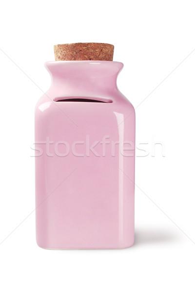 Geld jar keramische witte veiligheid container Stockfoto © dezign56