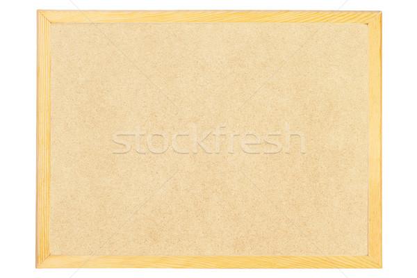 Közlöny tábla fakeret fehér információ jegyzet Stock fotó © dezign56