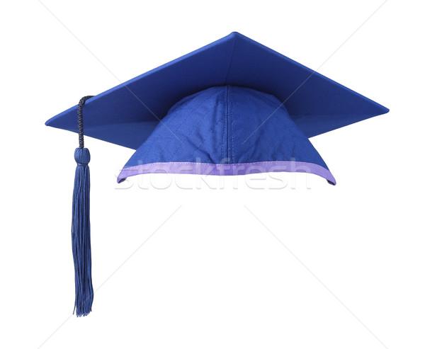 Mavi tahta beyaz eğitim mezuniyet kolej Stok fotoğraf © dezign56