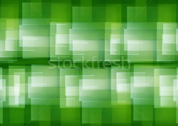 аннотация зеленый геометрический структур белый компьютер Сток-фото © dezign56