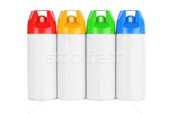 Four Spray Cans Stock photo © dezign56