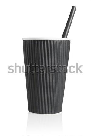 Black Disposable Paper Cups Stock photo © dezign56