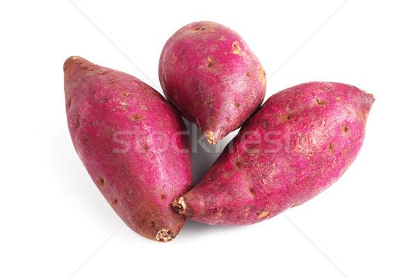 Japon tatlı patates taze beyaz gıda Stok fotoğraf © dezign56