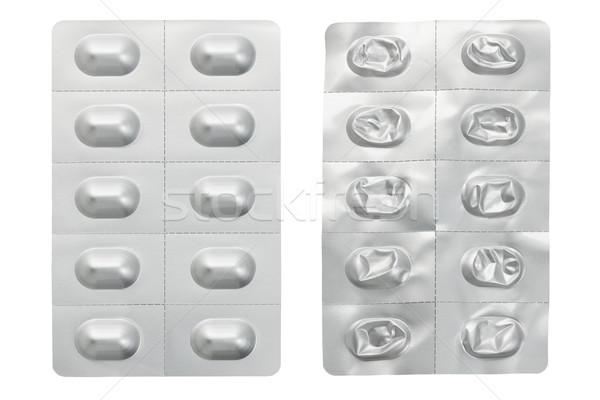 медицина волдырь Pack используемый белый таблетки Сток-фото © dezign56