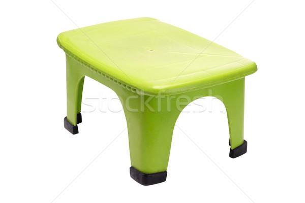 Verde plastica sgabello piccolo bianco sedia Foto d'archivio © dezign56