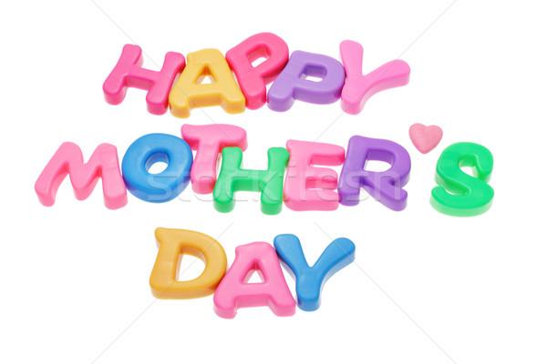 Feliz dia das mães alfabeto blocos amor carta férias Foto stock © dezign56