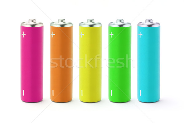 Multicolor AA size batteries  Stock photo © dezign56