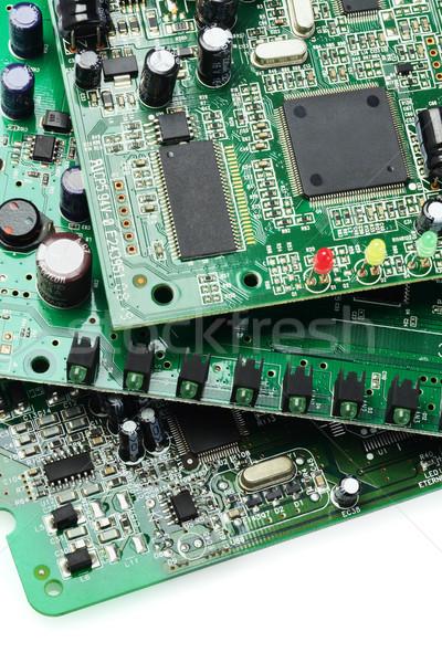 Elektronische circuit computer communicatie digitale gegevens Stockfoto © dezign56