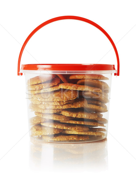 Cookies gestire bianco dessert contenitore Foto d'archivio © dezign56