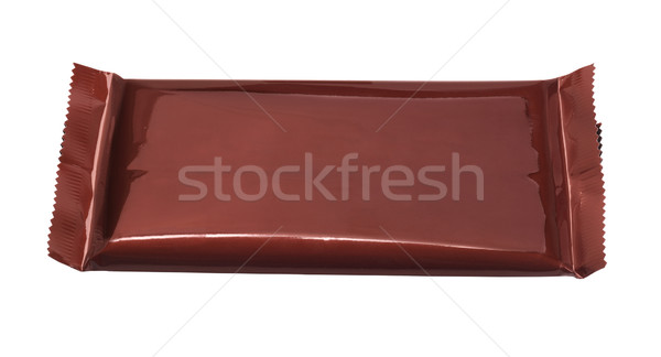 Chocolate Bar In Plastic Wrapper Stock photo © dezign56