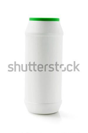 Bottiglia detergente plastica bianco pulizia contenitore Foto d'archivio © dezign56