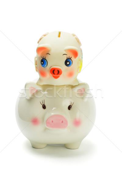 Háton malac bankok hát tárgy érme Stock fotó © dezign56
