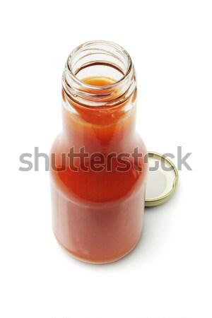 Open Bottle of Chili Sauce Stock photo © dezign56
