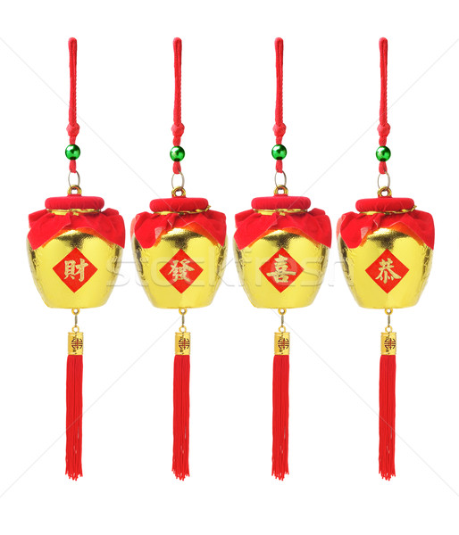 Chinese New Year Golden Pots Ornaments  Stock photo © dezign56