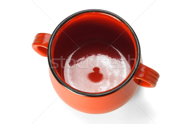 Red clay pot elevated view Stock photo © dezign56