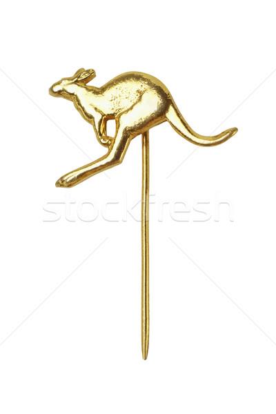кенгуру Pin белый животного галстук цвета Сток-фото © dezign56