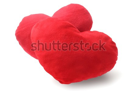 Two Red Heart Cushions Stock photo © dezign56